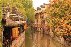 Shanghai Fengjing Town  at autumn Royalty Free Stock Image