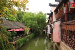 Shanghai Fengjing Town  at autumn Stock Image