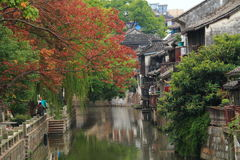 Shanghai Fengjing Town  at autumn Royalty Free Stock Photography