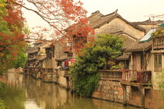Shanghai Fengjing Town  at autumn Stock Photos