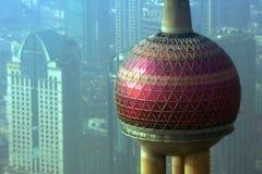 Shanghai Fernsehkontrollturm Stockbild