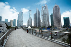 Shanghai financial center district Royalty Free Stock Photos