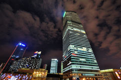 Shanghai financial center night, China Stock Image