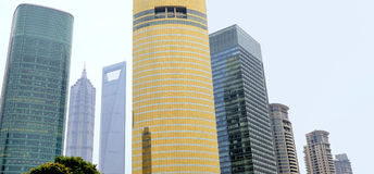 Shanghai Financial District Stock Photo