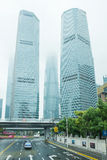 Skyscrapers in Shanghai, Financial district Pudong Stock Photography
