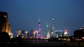 Shanghai Financial District,time lapse stock video footage