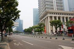 Shanghai finansiellt område Arkivfoto
