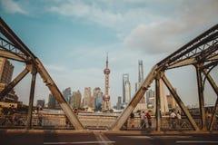 Shanghai finansiellt område arkivbilder