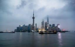Shanghai finansiellt område, Pudong Royaltyfria Bilder