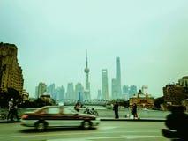Shanghai-Finanzbezirk, Zeitspanne stock video footage