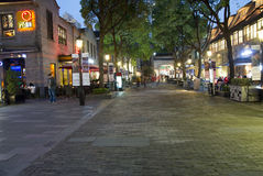 The Shanghai French Concession. SHANGHAI, CHINA - MAY 6, 2015: The French Concession was a foreign concession from 1849 until 1943. It's a premier residential Stock Image