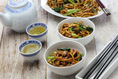 Shanghai fried noodle, Shanghai chow mein Stock Photography