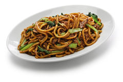 Shanghai fried noodle, Shanghai chow mein Royalty Free Stock Image