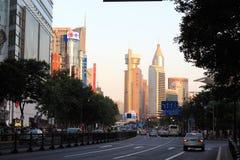 Shanghai gata Fotografering för Bildbyråer