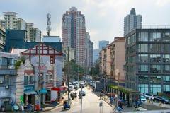 Shanghai gata, Kina Royaltyfri Bild