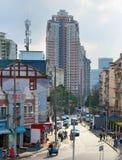 Shanghai gatasikt, Kina Royaltyfria Foton