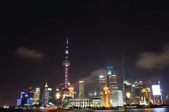Shanghai gränsmärke Arkivbild