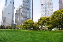 Shanghai Grassland building Stock Image