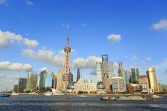 Shanghai-Grenzstein-Skyline Lizenzfreie Stockfotografie