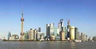 Shanghai-Grenzstein-Skyline Stockfotografie