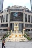 Shanghai, Grote Gateway 66 hield het thematentoonstelling van Heilige Seiya OL Stock Fotografie