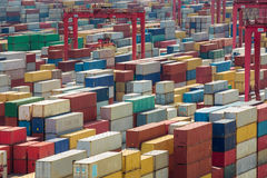 Shanghai harber container box Stock Image
