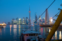 Shanghai Harbor. Hub of Asia Stock Photo