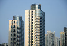 Shanghai High Rise Apartment Buildings Royalty Free Stock Photos