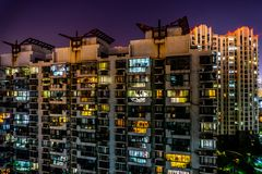 Shanghai Highrise Apartment Building 17 stock photography