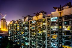 Shanghai Highrise hyreshus 16 royaltyfri fotografi
