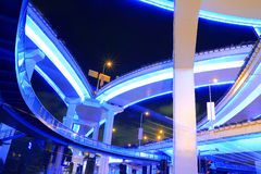 Shanghai highway viaduct urban viaduct at night Stock Image