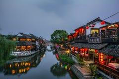 Shanghai Historisch Watertown, Xitang, China royalty-vrije stock foto