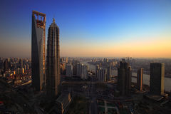 Shanghai hoje imagens de stock royalty free