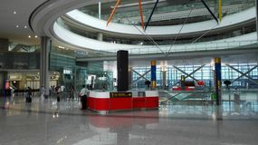 Shanghai Hongqiao Airport Question Table for Left Travelling Stock Images