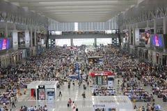 Shanghai Hongqiao järnvägsstation Arkivbild