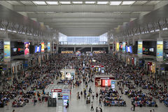 Shanghai Hongqiao railway station in China Royalty Free Stock Images