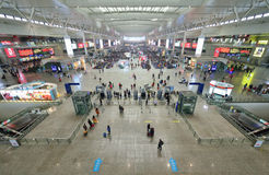 Shanghai Hongqiao Railway Station Royalty Free Stock Photos