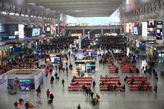 Shanghai Hongqiao Railway Station Royalty Free Stock Image
