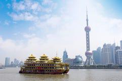 shanghai horisont Arkivfoto