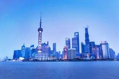 Shanghai horisont Arkivfoton