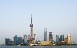 shanghai horisont Royaltyfria Bilder