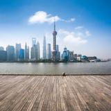 Shanghai horisont i dag Arkivbilder