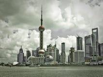 Shanghai horisontBund Royaltyfria Bilder