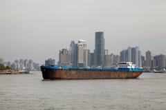 Shanghai - Huang Pu River Royalty Free Stock Photo
