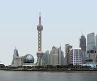 Shanghai at Huangpu River Royalty Free Stock Image