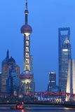 Shanghai Huangpu River Night Royalty Free Stock Image