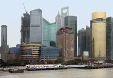 Shanghai at Huangpu River Royalty Free Stock Photo