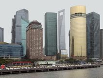 Shanghai at Huangpu River Royalty Free Stock Images