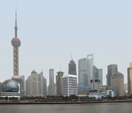 Shanghai at Huangpu River Royalty Free Stock Images