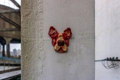 Shanghai-Hundeskulptur stockfotos